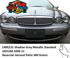 LMR/LEL Shadow Grey Metallic Standard JAGUAR 2006-11 Basecoat Aerosol Paint 300 Grams