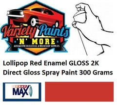 Lollipop Red Enamel GLOSS 2K Direct Gloss Spray Paint 300 Grams