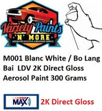 M001 Blanc White / Bo Lang Bai  LDV 2K Direct Gloss Aerosol Paint 300 Grams