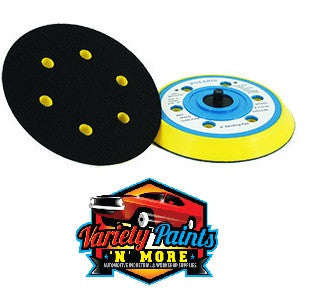 Velocity Velcro Back Up Pad 150mm 6 Hole