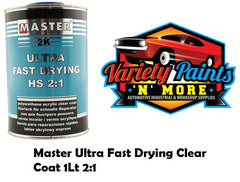 Master Ultra Fast Drying Clear Coat 1Lt 2:1