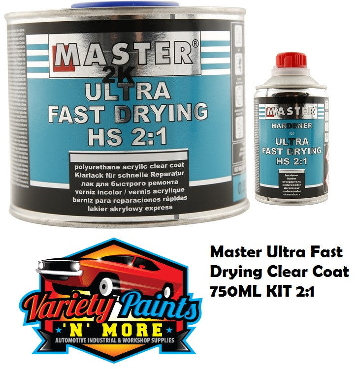 Master Ultra Fast Drying Clear Coat 750ML KIT 2:1