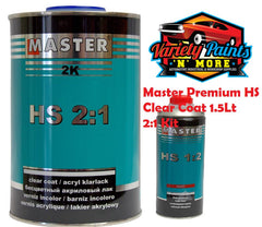 Master Premium HS Clear Coat 1.5Lt 2:1 Kit