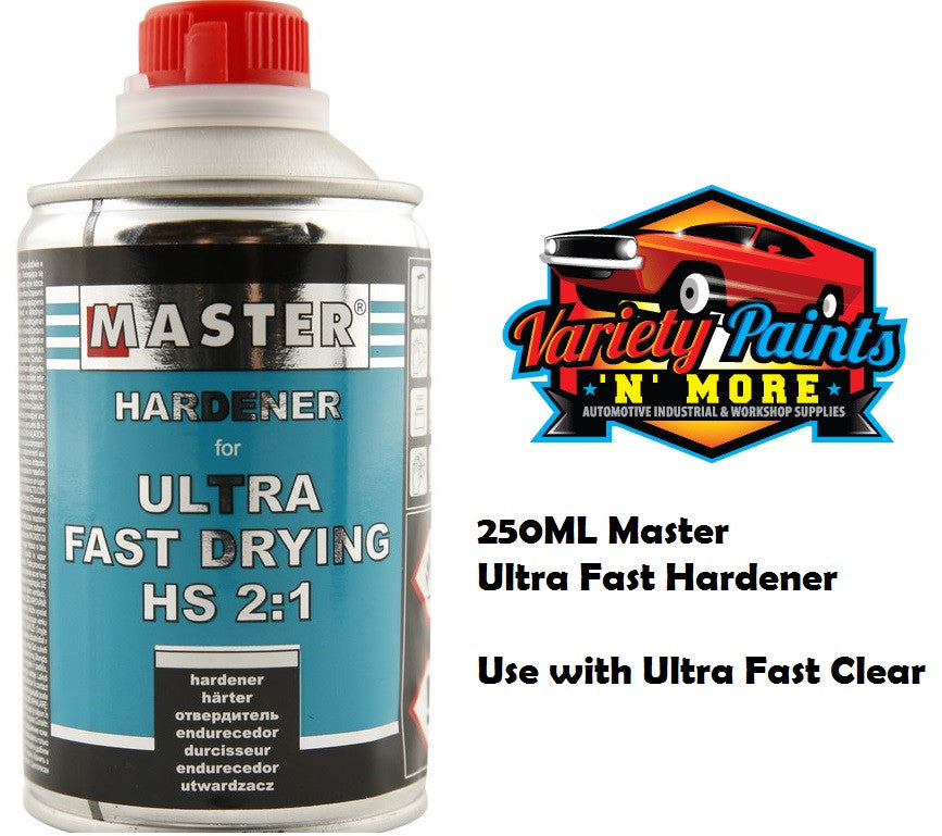 Master Ultra Fast Drying Hardener 250ml Variety Paints N More