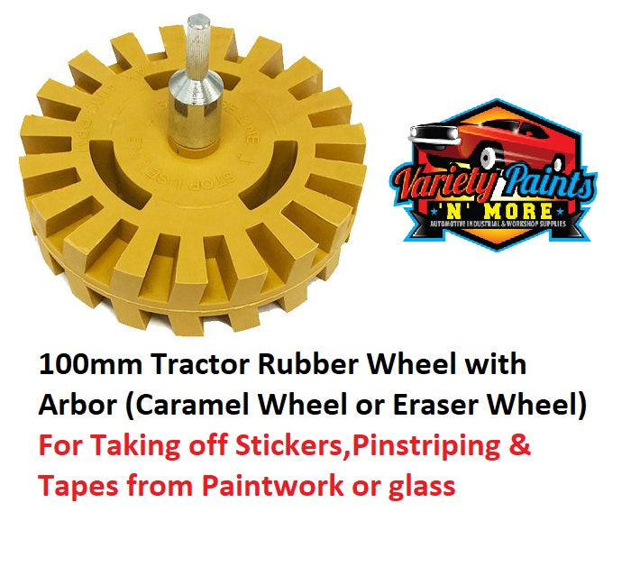 100mm Tractor Rubber Wheel with Arbor (Caramel Wheel or Eraser Wheel)