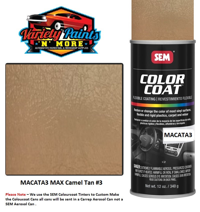MAX Camel Tan #3 SEM Colourcoat Vinyl Aerosol 300 Grams