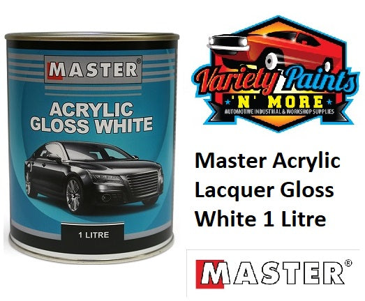 Master Acrylic High Opacity Gloss White 1 Litre HOW1
