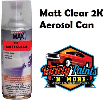 SprayMax 2K MATT Clear Spray 300ML (Debeers)