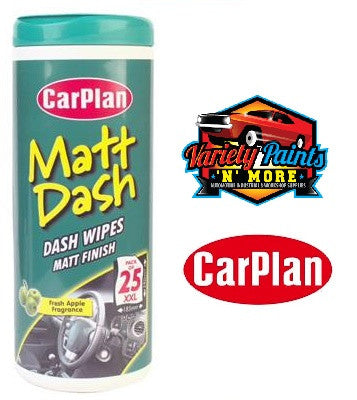 CarPlan Matt Dash Wipes25 XXL pc Per Tub