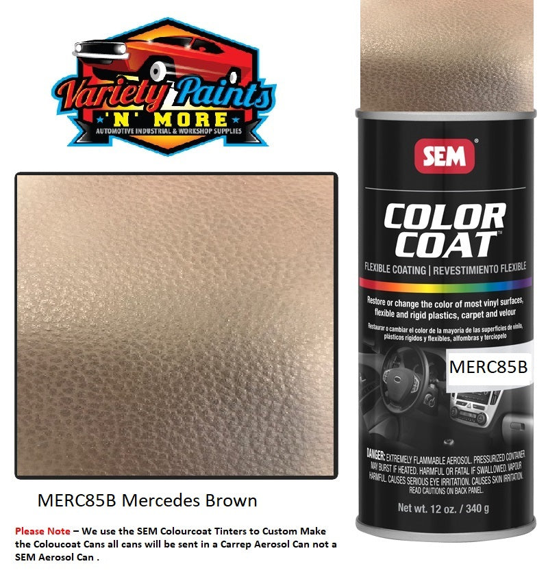 MERC85B Mercedes Brown SEM Colourcoat Vinyl Aerosol 300 Grams