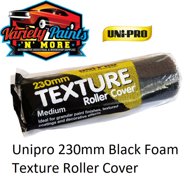 Unipro 230mm Black Foam Texture Roller Cover