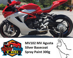 MV102 MV Agusta Silver Basecoat Spray Paint 300g