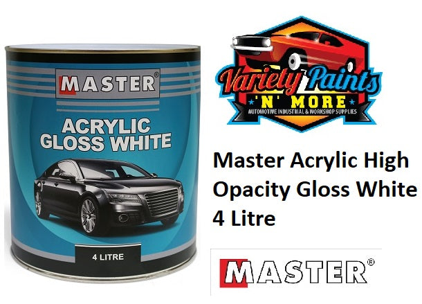 Master Acrylic High Opacity Gloss White 4 Litre HOW4