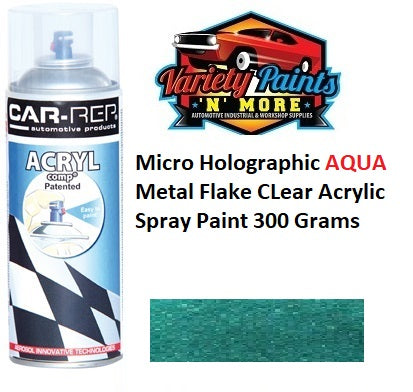 Micro Holographic AQUA Metal Flake CLear Acrylic Spray Paint 300 Grams