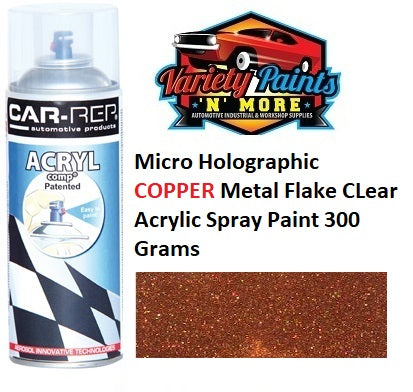 Micro Holographic COPPER Metal Flake CLear Acrylic Spray Paint 300 Grams