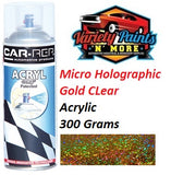 Variety Paints Micro Holographic Gold CLear Acrylic Spray Paint 300 Grams
