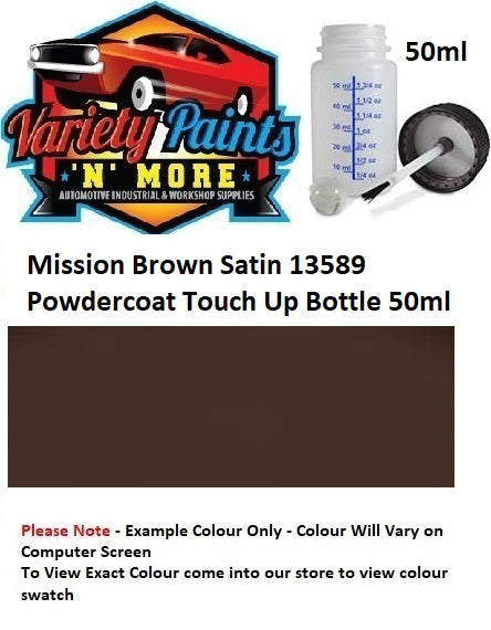 Mission Brown Satin 13589 Powdercoat Touch Up Bottle 50ml