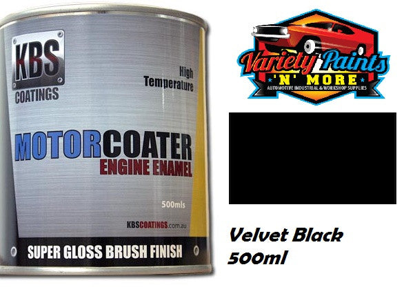 KBS Motorcoater Velvet Black Engine Enamel 500ml
