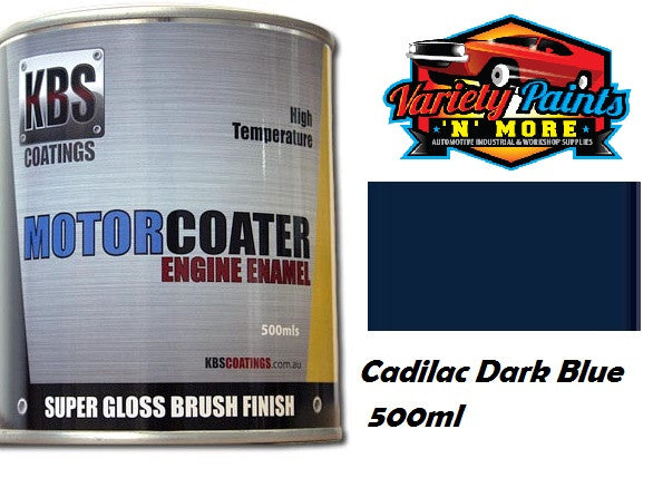 KBS Motorcoater Cadillac Dark Blue Engine Enamel 500ml