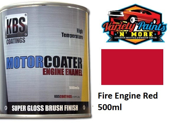 KBS Motorcoater Fire Engine Red Engine Enamel 500ml