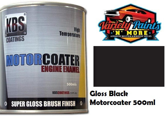 KBS Motorcoater Gloss Black Engine Enamel 500ml