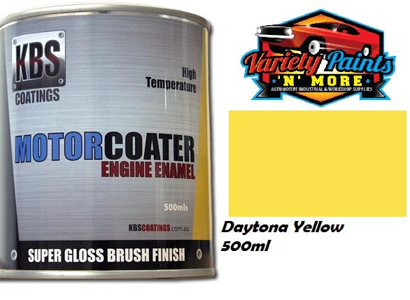 KBS Motorcoater Daytona Yellow Race Yellow Engine Enamel 500ml