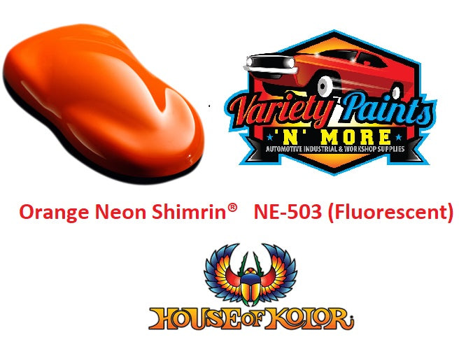 Orange Neon Shimrin  House of Kolor NE-503 (Fluorescent) 1 LITRE  RTU
