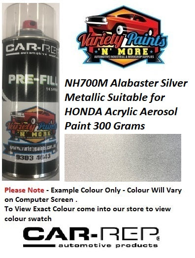 NH700M Alabaster Silver Metallic Suitable for HONDA Acrylic Aerosol Paint 300 Grams
