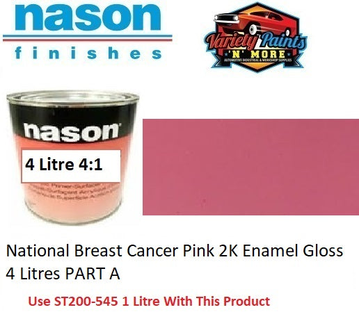 National Breast Cancer Pink 2K Enamel Gloss 4 Litres PART A