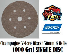 Norton A275 1000 Grit  Champagne No-Fil Velcro Disc 150mm 6+1H  Single Disc