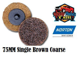 Norton Brown 75mm Beartex Quick Change Disc (Roloc) Coarse