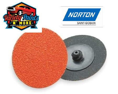 Norton 50mm 80 Grit Single X-Treme Life Roloc Disc BOX OF 25