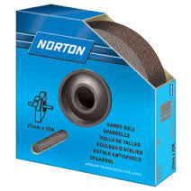 Norton Cloth Handy Roll (Emery Cloth Roll ) 50mm x 50 Metres x 100 Grit