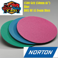 Norton BOX OF 15 1500 Grit Ice Foam Discs 150mm BLUE