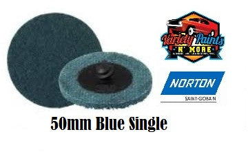 Norton Blue 50mm Beartex Quick Change Disc (Roloc) Very Fine