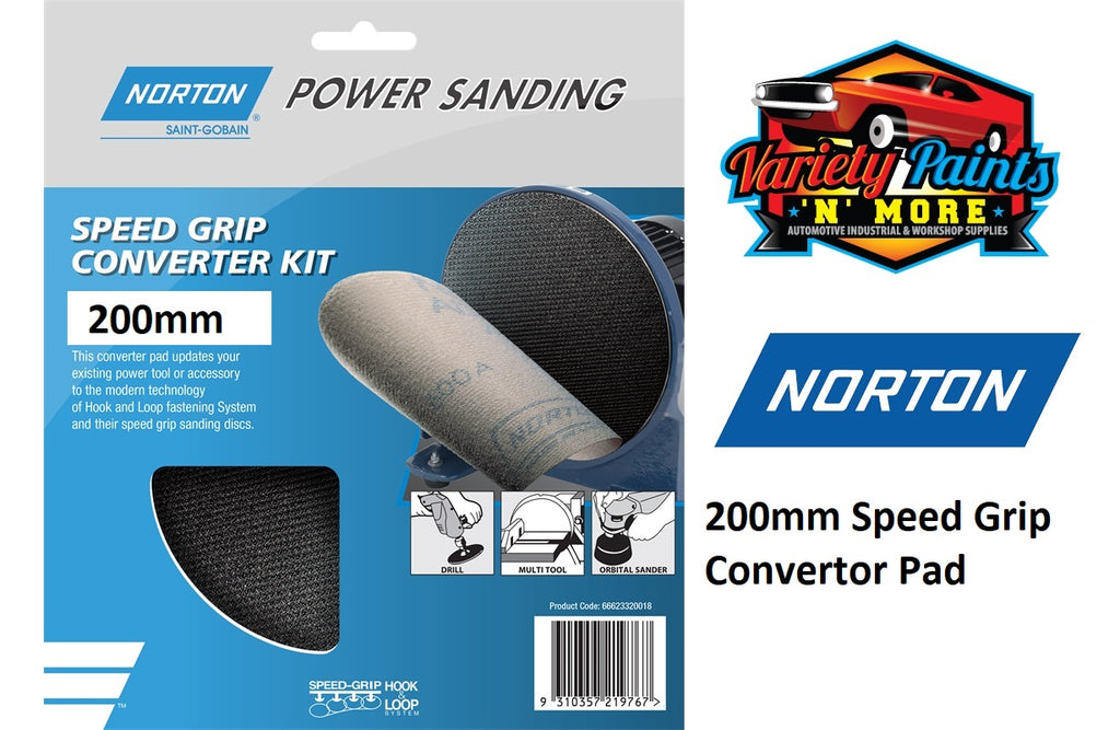 Norton Speed Grip Convertor Pad 178mm AM339725