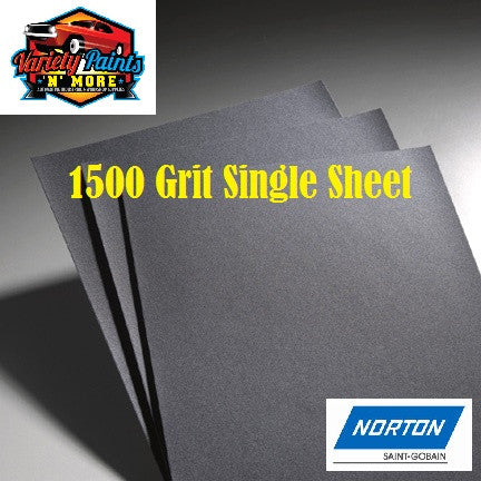 Norton Waterproof Paper 1500 Grit Single Pack