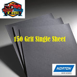 Norton Waterproof Paper 150 Grit Single Sheet