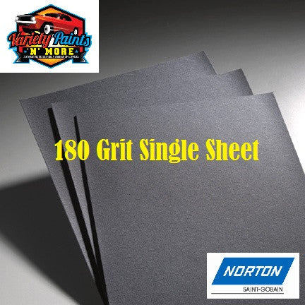 Norton Waterproof Paper 180 Grit Single Sheet