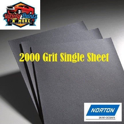 Norton Waterproof Paper 2000 Grit Single Sheet