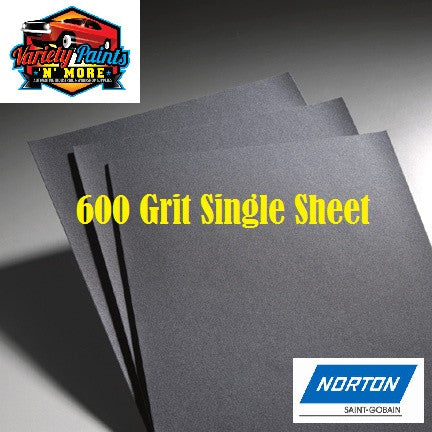 Norton Waterproof Paper 600 Grit Single Sheet