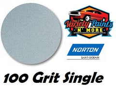 Norton Single 100 Grit No Hole No-Fil Velcro Disc 150mm