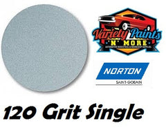 Norton Single 120 Grit No Hole No-Fil Velcro Disc 150mm