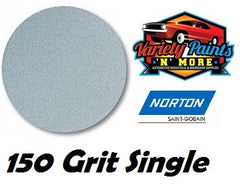 Norton Single 150 Grit No Hole No-Fil Velcro Disc 150mm