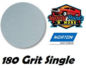 Norton Single 180 Grit No Hole No-Fil Velcro Disc 150mm