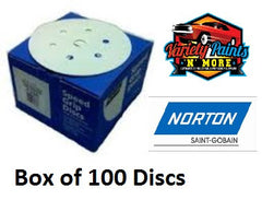 Norton No-Fil Velcro Disc 150mm 6+1H 150 Grit Box 100