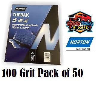 Norton Waterproof Paper 100 Grit PK50