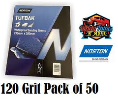 Norton Waterproof Paper 120 Grit PK50