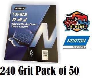 Norton Waterproof Paper 240 Grit PK50