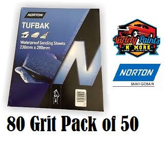 Norton Waterproof Paper 80 Grit PK50